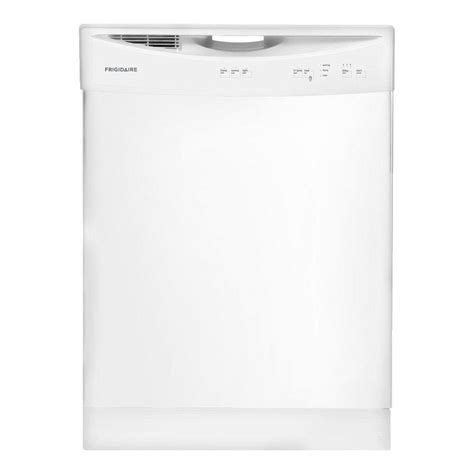 frigidaire front tub dishwasher in white