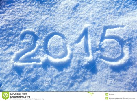 new year snow 2015 new year snow royalty free stock photography image