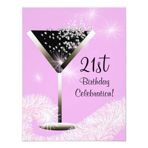 free 21st birthday invitations templates bubbly cocktail 21st birthday invitation zazzle