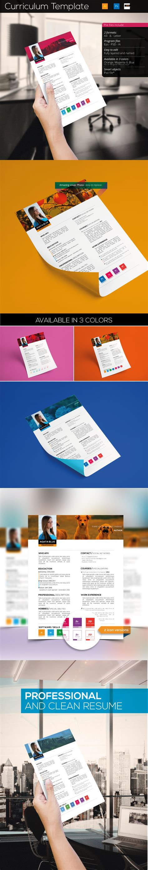 templates for authors 5 free professional clean resume templates a graphic world