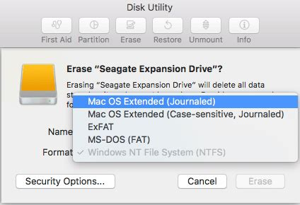 format hard drive journaled mac os extended how to format or partition an external hard drive for mac