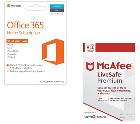 buy mcafee office 365 home livesafe premium bundle