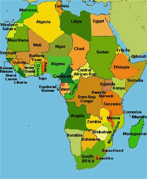 africa map 2011 outline map of africa with countries labeled