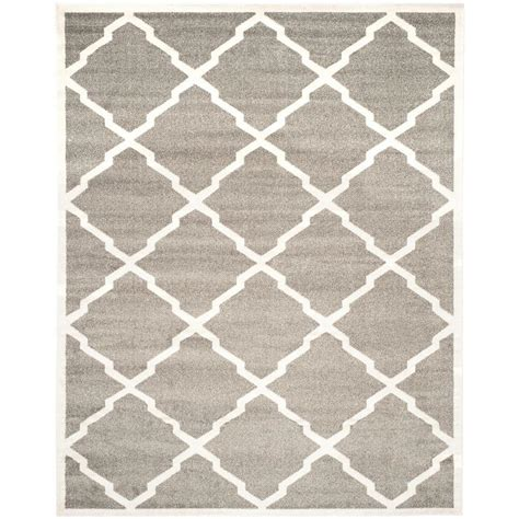 10 x 14 outdoor rug safavieh amherst gray beige 10 ft x 14 ft indoor outdoor area rug amt421r 10 the home depot