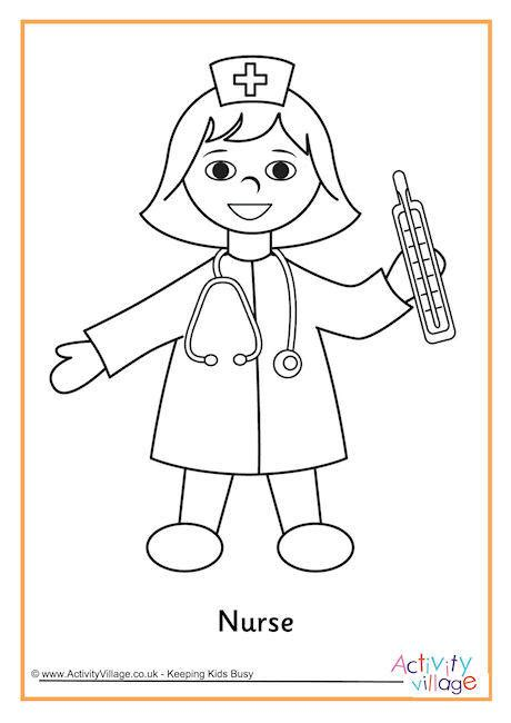 coloring pages of male nurses nurse colouring page 2