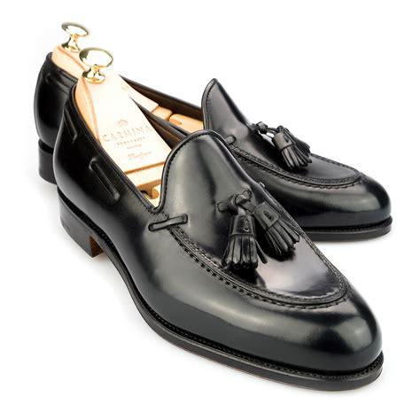 black tassle loafers black cordovan dress loafers carmina shoemaker
