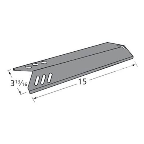 heavy duty bbq parts 91591 porcelain steel heat plate for