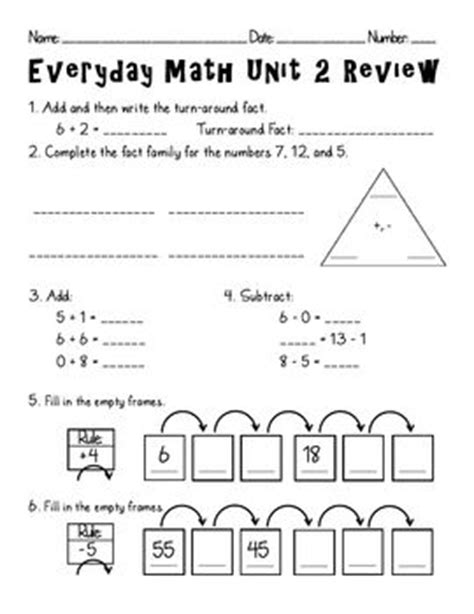 Grade 2 Math Assessment Worksheet by 25 Best Everyday Math Images On School Stuff