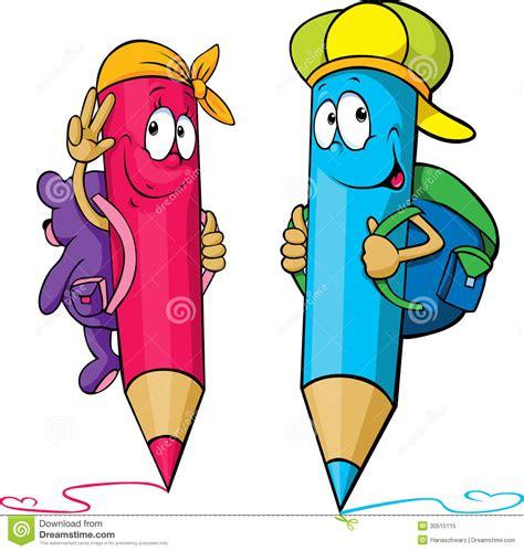 imagenes escolares coloridas desenhos animados coloridos dos l 225 pis com os sacos de
