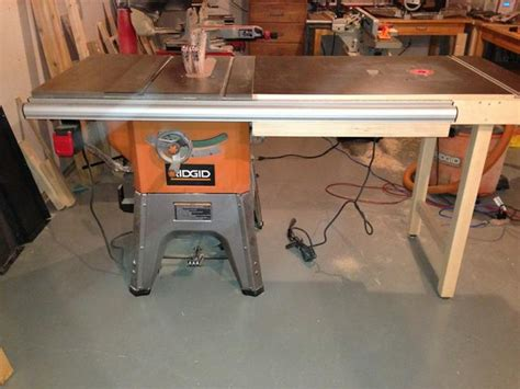 My Ridgid R4512 Table Saw Setup With Router Table