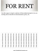 house for rent flyer template free real estate flyers