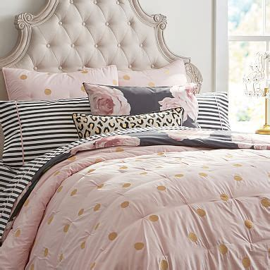 pink and gold comforter the emily meritt gold dot quilt sham pbteen