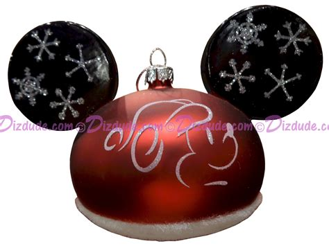 mickey mouse ears ornaments dizdude disney silhouette santa mickey mouse ears