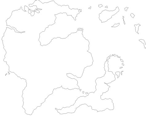 fantasy world map 005 outline