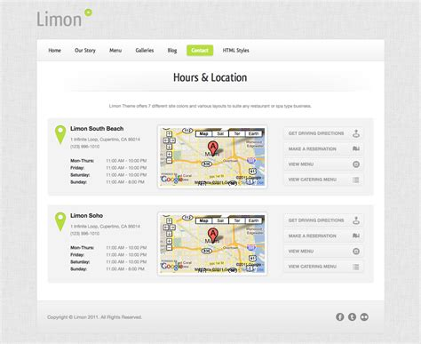 themeforest locations limon a restaurant and spa wordpress theme by two2twelve