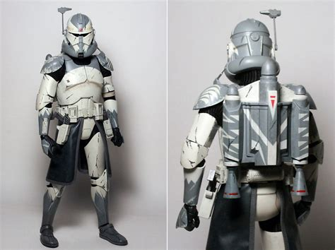 clone trooper wall display armor product review review sideshow 1 6 star wars commander wolffe