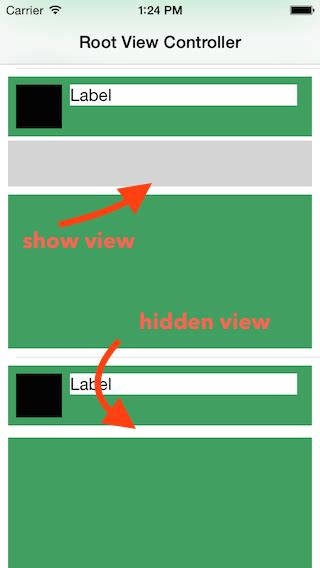 autolayout hide view ios autolayout with hidden uiviews stack overflow