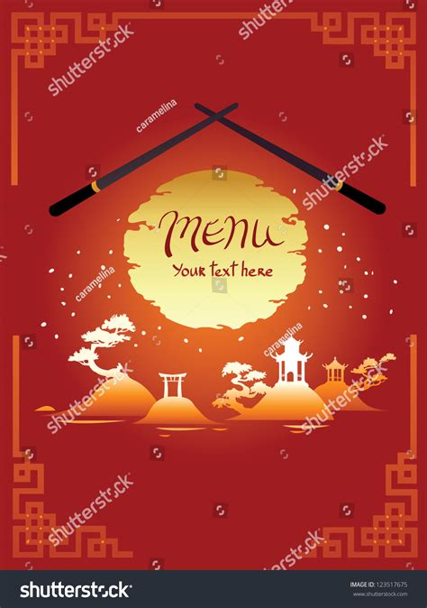 asian menu template template design asian menu stock vector 123517675