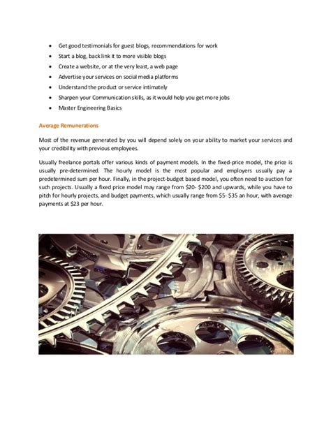 guide to become a freelance mechanical engineer