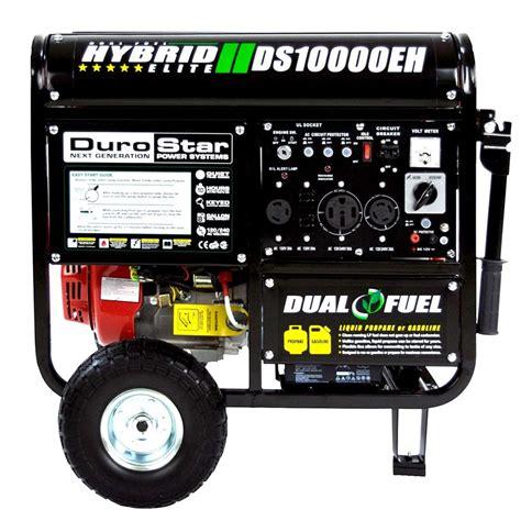 durostar 10000 watt hybrid dual fuel portable gas propane