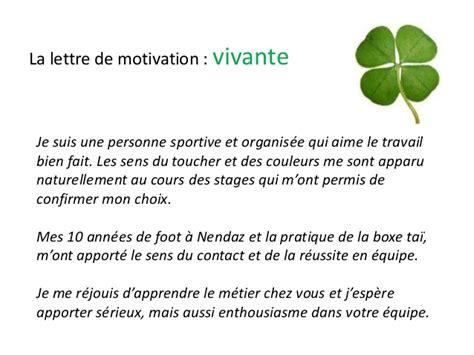 Exemple De Lettre De Motivation Pour Yves Rocher Modele Lettre De Motivation Pour Etre Jsp Document