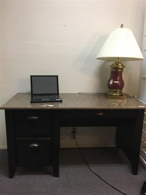 marble top computer desk granite top modern computer desk in good cond
