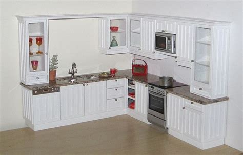 tongue and groove kitchen cabinets custom kitchen in 1 12 scale white quot tongue and groove