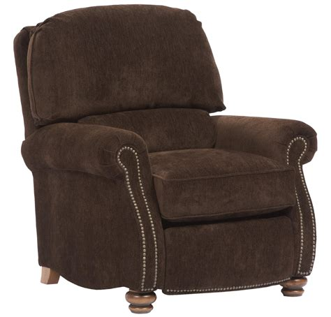 broyhill rocker recliner broyhill furniture laramie recliner with turned wood feet