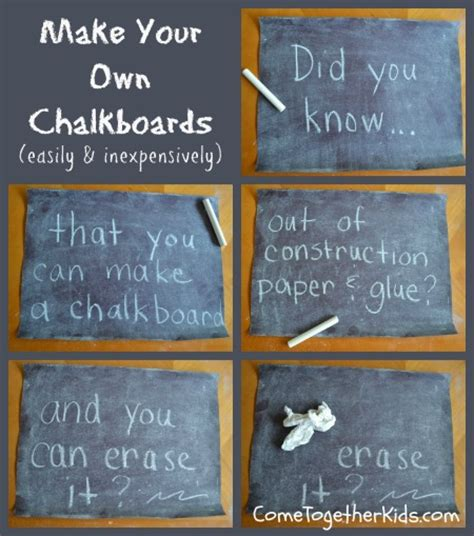 How To Make A Board With Paper - come together make your own chalkboards with