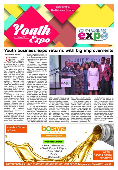 supplement expo youth expo supplement by gazettebw issuu
