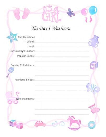 baby book template free printable baby book scrapbook pages 8 5 x 11 and