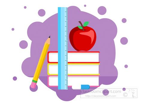 Notice Clipart School Background Pencil And In Color by School Clipart Books Scale Pencil Apple Composition Back