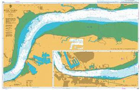 thames river nautical chart admiralty chart 1186 river thames canvey island to tilbury