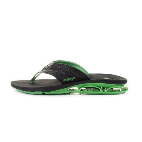 reef comfort flip flops mens reef x s 1 black green comfort toe post flip flops