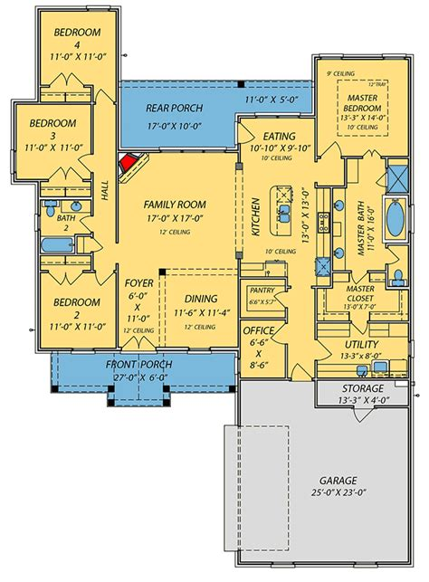 plan 56377sm 4 bed acadian house plan with bonus room house plans laundry rooms and the o jays southern acadian house plan with split bedroom layout