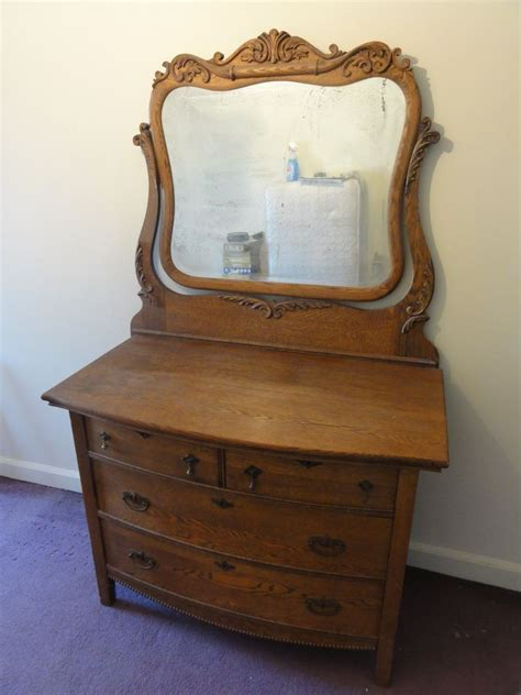 Antique Dressers With Mirror by 19th Cen Antique American Golden Oak Dresser With Mirror
