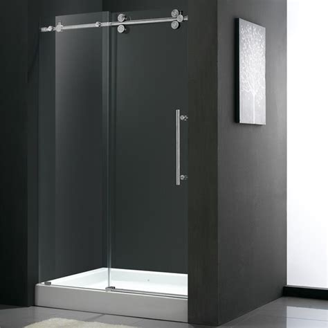 Dr Shower Door by 60 Quot Frameless Shower Door 3 8 Quot Clear Chrome Hardware With