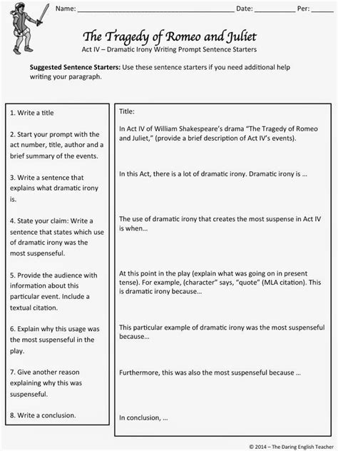 Romeo And Juliet Character Analysis Essay Prompt by The Daring Teaching Romeo And Juliet To