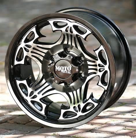 Truck Wheels With Skulls 17 Inch Black Wheels Moto Metal 909 Skull Chevy Gmc 1500