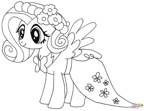 my little pony fluttershy coloring page free printable