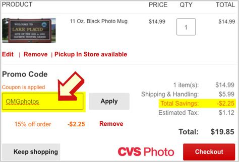 coupon instructions how where to enter promo codes for enter cvs photo promo code omg photos