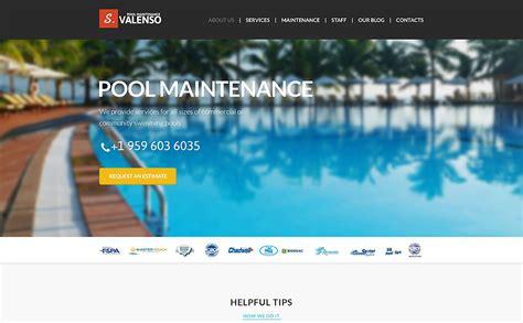 Pool Maintenance Joomla Template 51398 Pool Service Website Template