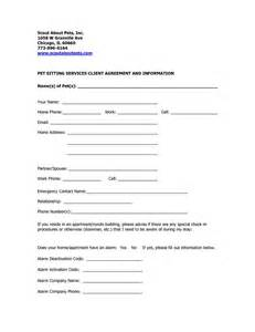 Pet sitting business and dog pet sitting contract template
