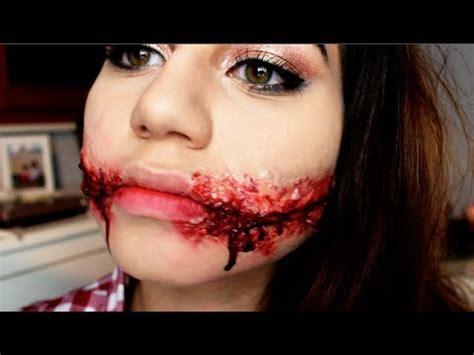 aufgeschlitzter mund slit mouth tutorial  halloween