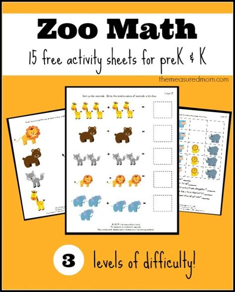 printable zoo animals for preschoolers animal worksheet new 630 animal math worksheets kindergarten