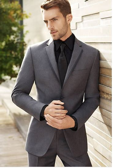 grey suit black shirt and black tie yay or nay sports