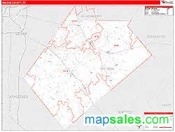 wilson county map wilson county tx wall map line style by marketmaps