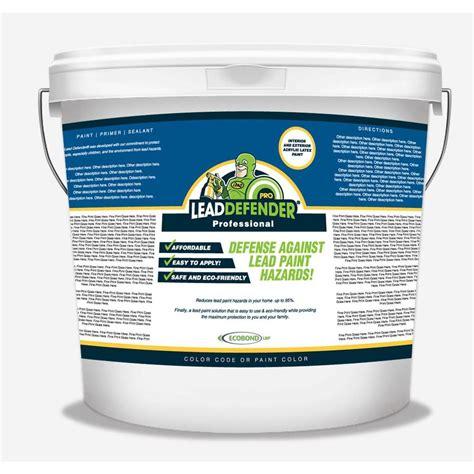 exterior paint sealant ecobond lbp 5 gal lead defender pro white flat