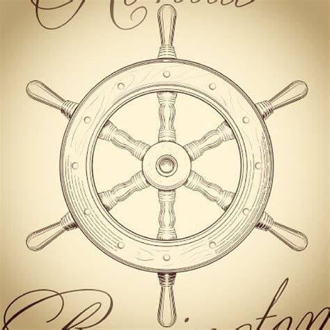 boat steering wheel drawing 17 best ideas about ship wheel tattoo on pinterest