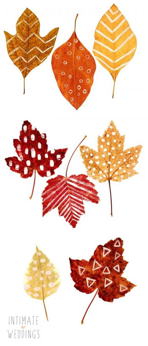 fall leaves garland printable diy printable leaf place cards weddbook
